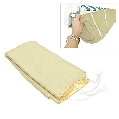 Housse de pluie imperméable pour auvent de terrasse/jardin, en polyester, avec sac de rangement - Beige 3M