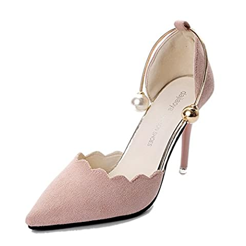 Version coréenne des sandales à talons hauts,astuce sandales de liaison,fine sexy avec des chaussures de bouche peu profondes-A Longueur du pied=22.8CM(9Inch)
