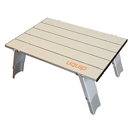 Pieghevole Alluminio Tavolo 2 selezionabile Altezze 11/16cm Tavolino luci+robusta Costruzione in alluminio compatto+stabile piccolo Packmaß Uquip Cellulare 244110