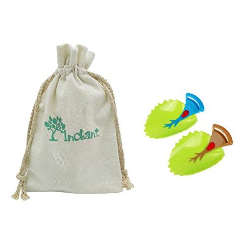 Preisvergleich Produktbild Hahn-Extender, Wasch- oder Spülbecken Griff Extender für Baby-Kleinkinder Kinder und Kinder Hand-Waschen mit Cotton Kordelzug Geschenk Tasche - Bringen Sie Ihre Kinder gute Hygiene Gewohnheiten, 2er-Set, BPA-frei