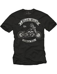 Coole Biker T-Shirts mit Aufdruck CUSTOM BIKE schwarz Männer S-XXXL