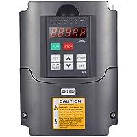 Convertidor de frecuencia de inversor, 220V 3KW Salida de inversor monofásico Convertidor de frecuencia de 3 fases para control de motor de husillo