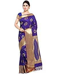 Varkala Silk Sarees Women's Art Silk Paithani Saree With Blouse Piece(JB5014RBV_Blue_Free Size)