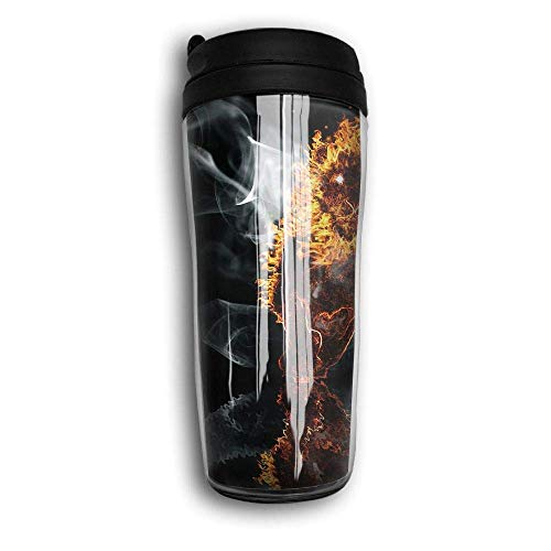 Flyup Kaffeebecher Smoke and Fire Travel Coffee Tumbler Stainless Lined Coffee Mug