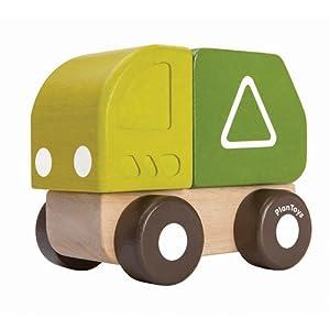 Plan Toys 5440 vehículo de Juguete - Vehículos de Juguete (Verde, Madera, Camión, Madera, Interior, 1 año(s), Niño/niña)