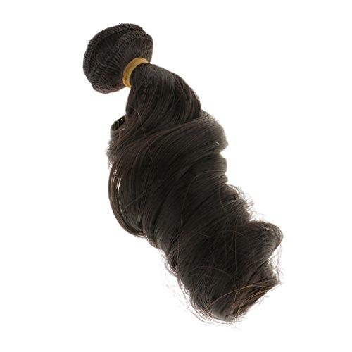 15x100cm DIY Perücke Lockiges Haar hübsche Puppenperücke Für Barbie-Puppen - Schwarze, /