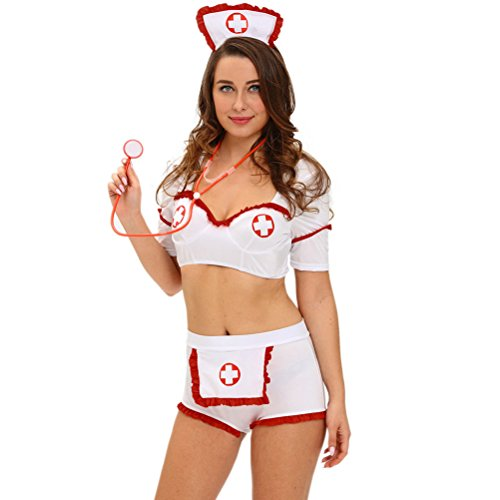 Price comparison product image MEINICE Drug Injection Flirt Nurse Costume(Size,M)