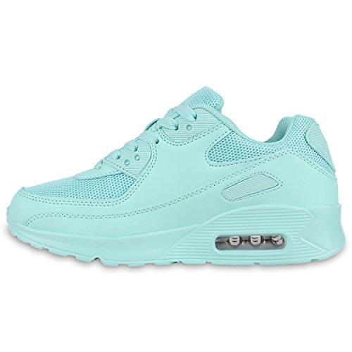 Damen Herren Unisex Sportschuhe Neon Runners Laufschuhe Sneakers Türkis Türkis