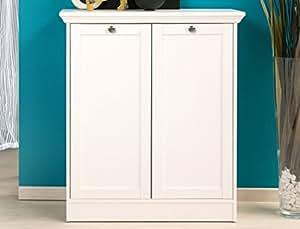 Commode landström blanc 80 x 90 x 35 cm-armoire de chambre à coucher à la salle meuble de salon à manger, couloir landhausmöbel