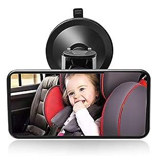 SunTop Auto Baby Spiegel Einstellbare Rücksitzspiegel für Babys,rückspiegel mit saugnapf,Rücksitzspiegel, Baby Kinder Rückspiegel