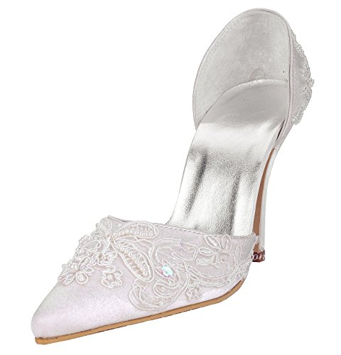 Kevin Fashion , Chaussures de mariage tendance femme Style1-White