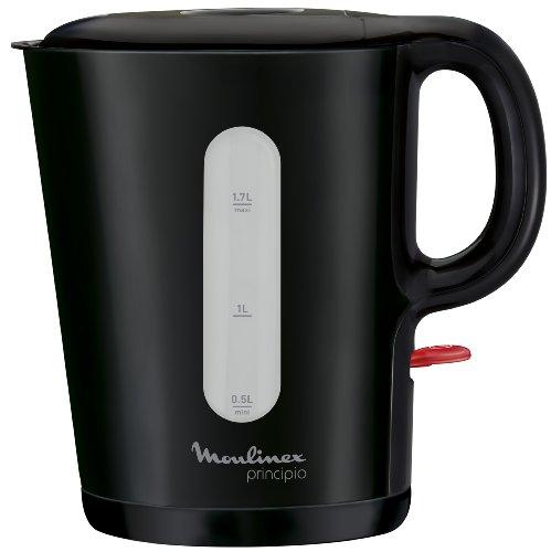 Moulinex BY105810 Bouilloire Électrique Principio 1,7L Sans Fil Anti-Tartre 2400W Noir