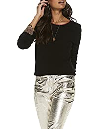 Scotch & Soda Knitted Crew Neck Top, Pull Femme