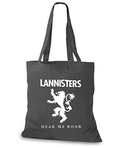 StyloBags Jutebeutel / Tasche Lannisters - Hear me Roar Darkgrey