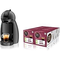 Krups Dolce Gusto - YY4099FD - Bundle Machine à Café Cafetière Espresso Piccolo et 6 Boites de Café - Gris anthracite
