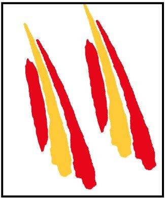 Artimagen Pegatina Bandera Trazo2 España 2 uds. 90x25