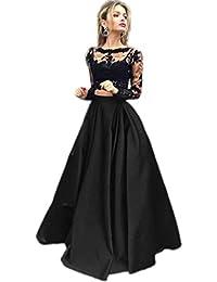 APXPF Femme deux pièces longue robe de bal formelle dentelle sexy robe de  soirée 9b2f38062e1b