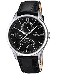 Festina - F16823-4 - Montre Homme - Quartz Analogique - Cadran Noir - Bracelet Cuir Noir
