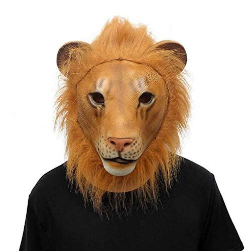QWhing Festival-Maske Halloween-Maske, Animal Lion Mask Dance Makeup Requisiten Kostüm ()