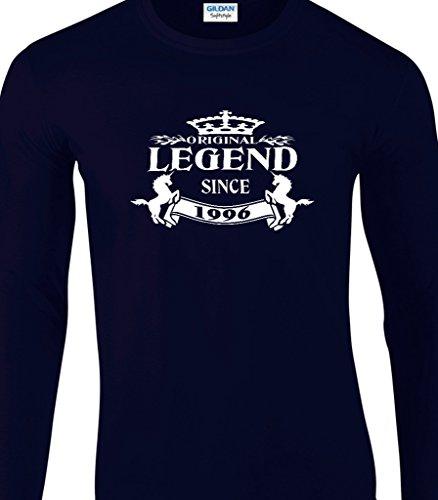21st Geburtstag Langärmeliges T-Shirt 'Original Legend Since 1995' - Toller Geburtstagsgeschenk Marine