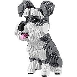 Perro Perro Salchicha Animal Modelo 3D DIY Micro Diamond Mini Edificio Nano Bloque de Juguete de Montaje de ladrillo,C