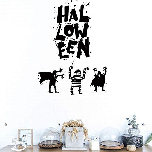 limicry Wandsticker Halloween Spaß Wandaufkleber Hexe Hintergrund Dekoriert Wohnzimmer Schlafzimmer Wandaufkleber Kreative Shop Dekoration Mädchen Junge Tapetensticker Geschenk Interessant 42 * 57 cm