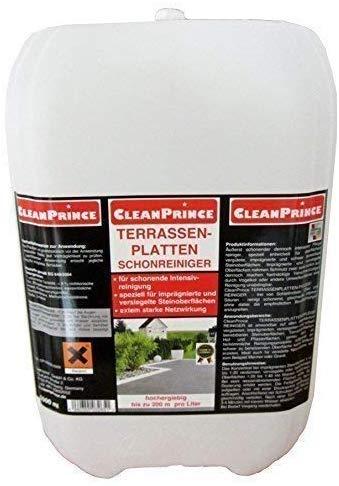 5 Liter CleanPrince Terrassenplatten Schonreiniger für imprägnierte und versiegelte Flächen, besonders schonend, Steine Ausblühungen Zementreste Marmor Granit Natursteine