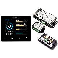 """Simarine Pico Blue Paket Smart Batteriemonitor 3,5"""" IPS LCD Display mit Aktiv Shunt Quatro Shunt & Tank und Spannungsmodul Batterietester Tankanzeige Digital"""