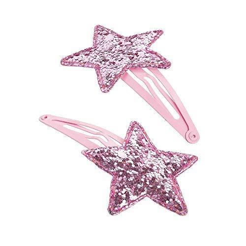 GIZZY® Mädchen-Clips, glitzernd, 2 Stück, Pink