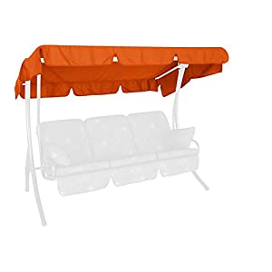 Angerer 808/11 Canopy for garden swing 210 x 145 cm, quality Swingtex, colour terracotta
