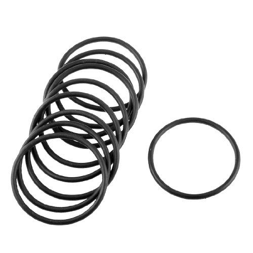 Lot de 10 joints toriques en caoutchouc noir de 28 x 2,5 mm