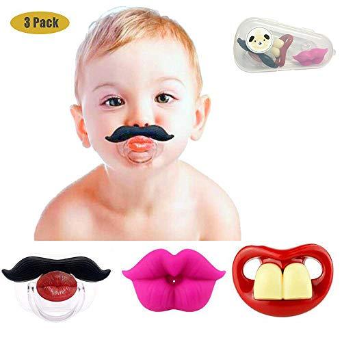 Lustige Baby-Schnurrbart-Schnuller, Maberry weiches Silikon Netter Schnuller-Entwurf mit Kusslippe ...