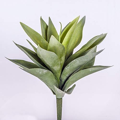 artplants Set 12 x Deko Agave Desiree auf Steckstab, grün, 25 cm, Ø 25 cm – 12 Stück Künstliche Sukkulente/Kunstpflanze