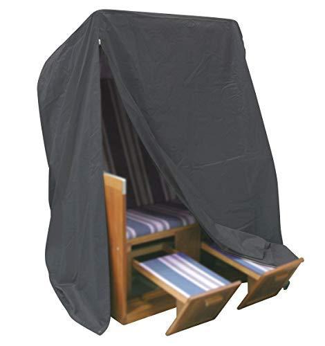 Fachhandel Plus 406226 Komfort Schutzhülle für Strandkorb, Anthrazit, 170 x 153 x 105 cm