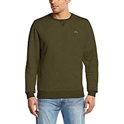 Lacoste Sport SH7613 Sweat-Shirt, Vert (Brome Chiné 5at), Small (Taille Fabricant:3) Homme