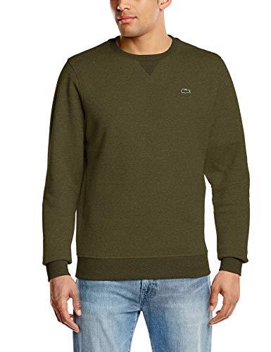 Lacoste Sport Herren Sh7613 Sweatshirt, Grün (Brome Chiné 5at), Large (Herstellergröße: 5)