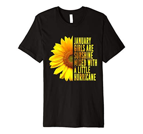 January Women Birthday T Shirt Sunflower Funny Quote