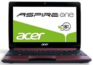 Acer Aspire One D270 25,7 cm (10,1 Zoll, matt) Netbook (Intel Atom N2600, 1,6GHz, 2GB RAM, 320GB HDD, ohne Betriebssystem, 8h Akkulaufzeit ) rot