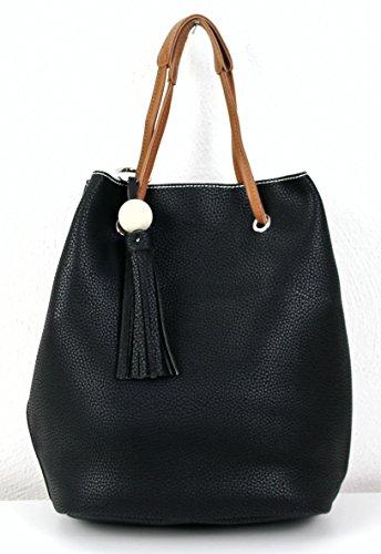 Limited-Colors, Borsa a tracolla donna, grigio chiaro (grigio) - 3012161148 nero