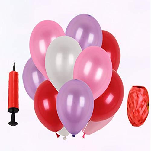Hengtongtongxun Globos Redondos, Globos de Fiesta, Colores Mezclados, 100 Paquetes por Paquete, Suministros para Fiesta