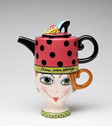 Shoes on Her Mind 0.31-qt. Teapot Kettle Set for One