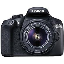 Canon EOS 1300D EF-S 18-55mm Kit fotocamere SLR 18MP CMOS 5184 x 3456Pixel Nero (Ricondizionato) )