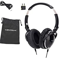 Active Noise Cancelling Headphones With Mic, MonoDeal Overhead pesante bassi