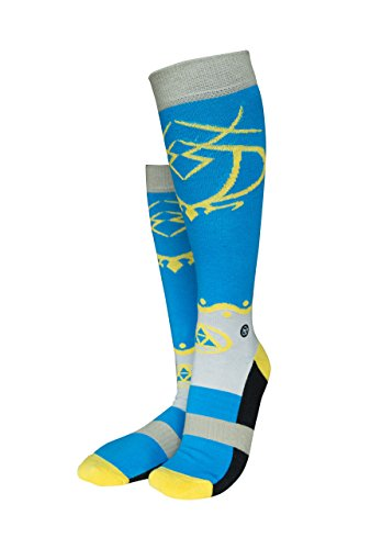 Musterbrand Zelda Kniestrümpfe Unisex Princess Walk Socken blau 38-42 (Legend Of Zelda Prinzessin Zelda Kostüm)