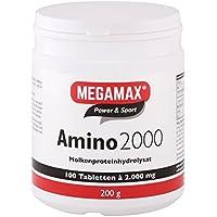 Megamax Amino 2.000 Aminosäuretabletten, reines Molkenproteinhydrolysat. Für Muskelaufbau und Diät. Inhalt: 100... preisvergleich bei billige-tabletten.eu