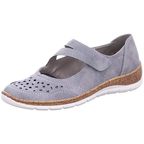 Jenny by Ara 22-52636-76 - Zapatos de Media caña para Mujer, Color Gris, Talla 40 EU