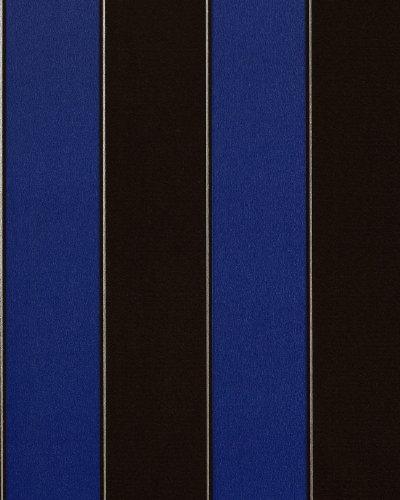 Streifen Tapete EDEM 771-37 Vinyl Tapete Luxus Hochwertig Barock dunkel-braun royal-blau silber -