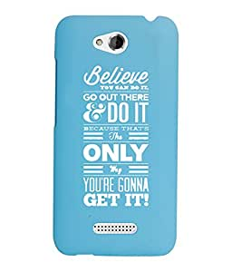 KolorEdge Back Cover For HTC Desire 616 - Sky Blue (2873-Ke15166HTC616SBlue3D)
