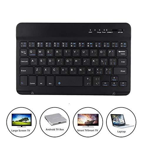 Tonysa 7-Zoll-Arabisch Portable ultradünne drahtlose Bluetooth-Tastatur wasserdicht und staubdicht, drahtlose arabische Tastatur Scissor Typ Lightweight für Android/IOS/Win (Auf Arabisch Ipad-tastatur)