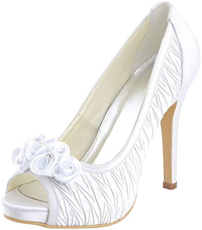 Willsego Sandali da Sposa da Sposa con Tacco a Spillo e Racchetta da Donna (Coloreee   Ivory-10cm Heel, Dimensione... | Colori vivaci  | Sig/Sig Ra Scarpa